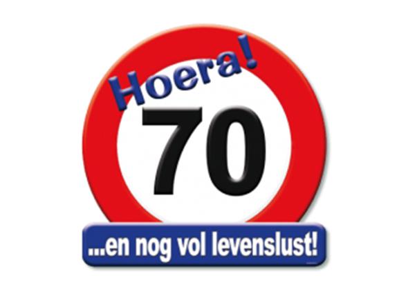 Huldeschild 70 jaar - Partytentverhuur Dordrecht