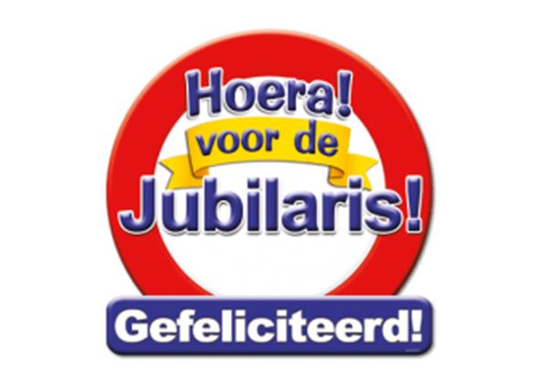 Huldeschild Jubilaris - Partytentverhuur Dordrecht
